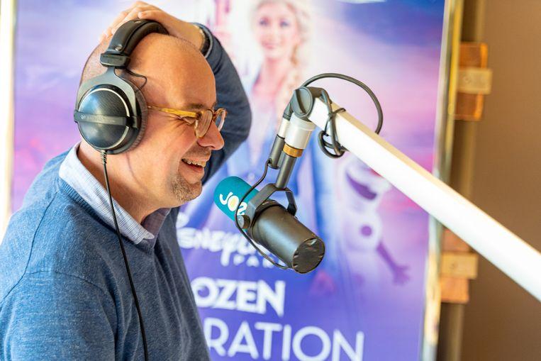 Sven Ornelis raakte dan toch op tijd in de JOE-studio.