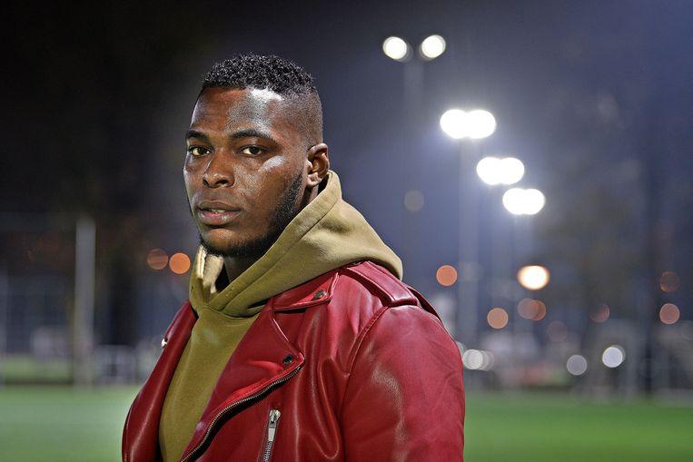 Junior Albertus probeert via amateurs terug te keren naar het betaald voetbal. Beeld Guus Dubbelman  / de Volkskrant