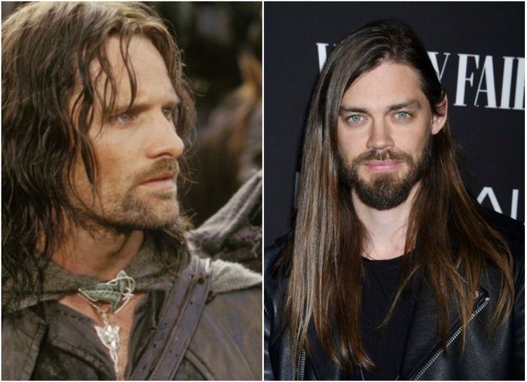 Viggo Mortensen als Aragorn (links) en Tom Payne (rechts).