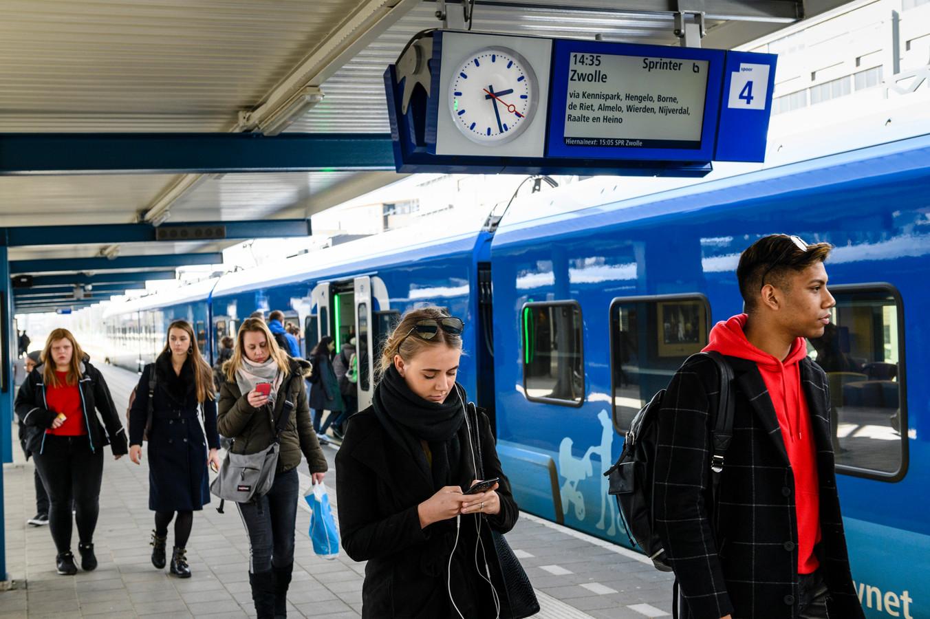 Vanochtend was er een storing op het traject Zwolle-Enschede.
