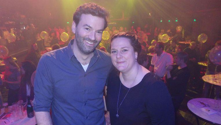 Chef-pubquiz Christian Aarts en voorzitter Mariken Rijpert van de Lionsclub Amsterdam 't IJ. Niks geen blauwe blazers. Wat moet je dan met je vooroordelen? Beeld Schuim