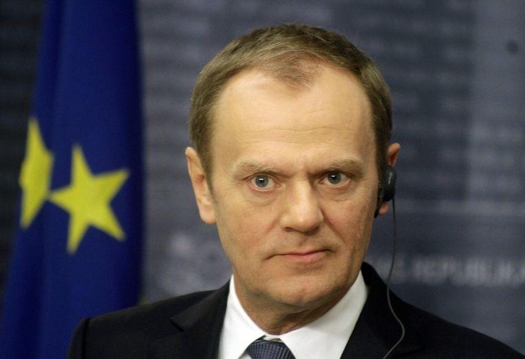 Donald Tusk, president van de Europese Raad. Beeld epa