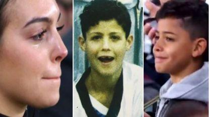 """'Mevrouw' Ronaldo reageert emotioneel op hattrick van Cristiano: """"De voetbalwereld is van jou. Wij houden van je"""""""