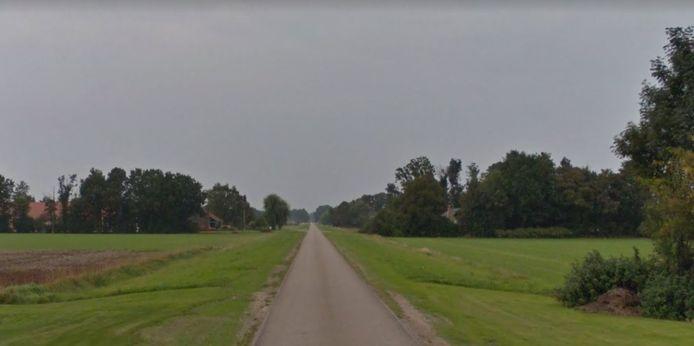 Beschadigde bermen aan de Oude Bosweg in Dronten