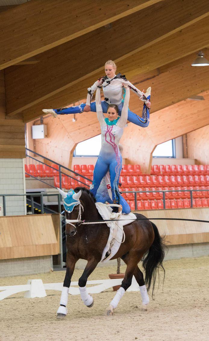 Een recordaantal deelnemers deed in het weekend van 8 juni mee aan het Nationaal Voltigeweekend op het NHC te Ermelo.