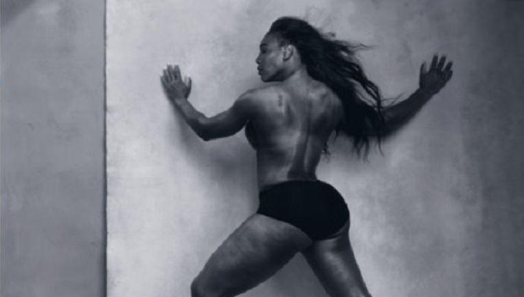Tennisster Serena Williams poseerde voor de Pirelli-kalender. Beeld .
