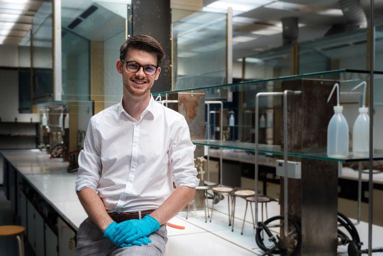 Wetenschapper Martijn Peters in zijn labo aan de UHasselt.