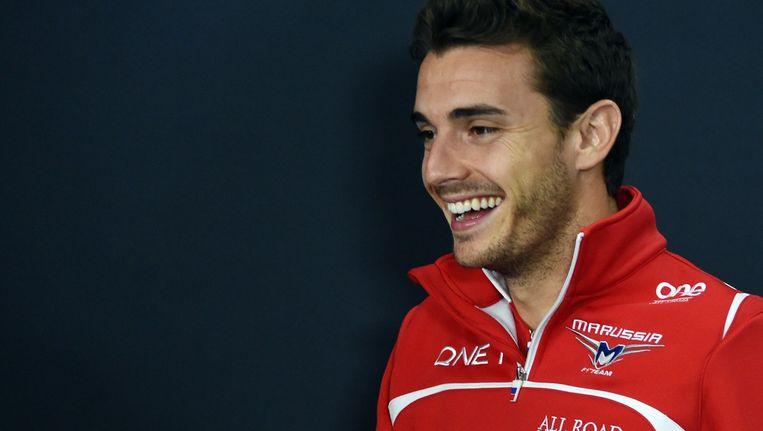Jules Bianchi vlak voor zijn crash in 2014 Beeld afp