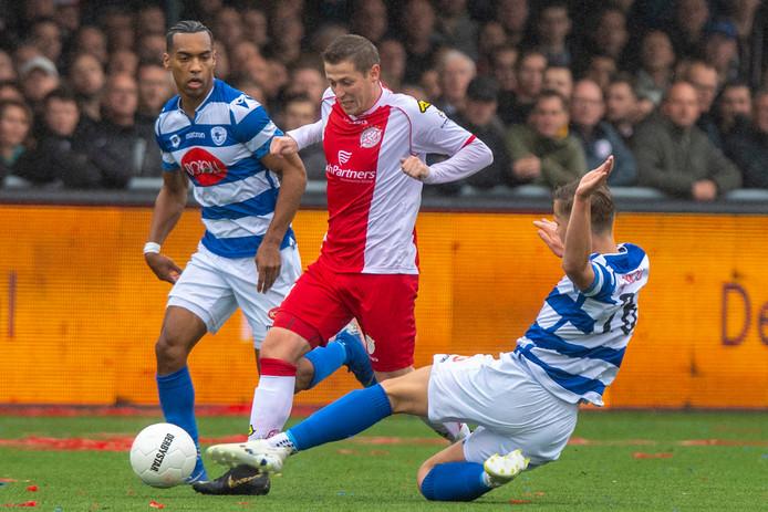 De derby der derby's: IJsselmeervogels  - Spakenburg, eerder dit seizoen. De clash stond voor 18 april gepland, maar is vanwege de coronacrisis afgelast.