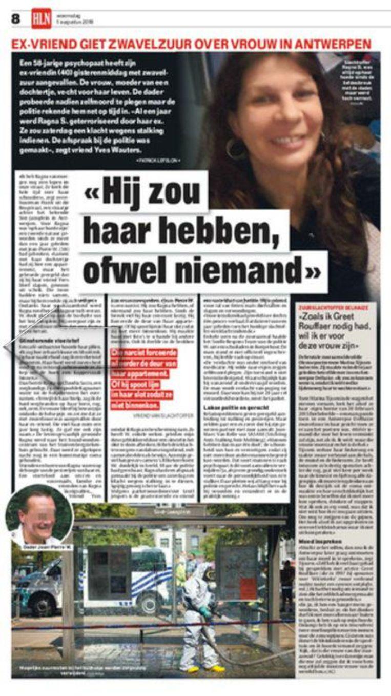 Eerder deze week, dinsdag, viel een man zijn ex-vrouw aan met zwavelzuur in Antwerpen, eveneens op het Sint-Jansplein.