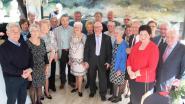 75-jarigen vieren feest in zaal Ensor