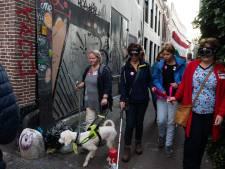 De 'Blind Walk' in Utrecht levert ruim 25.000 euro op voor oogonderzoek