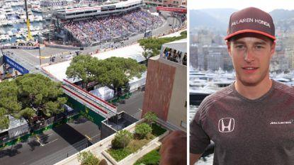 """Ook dat is Monaco: onze F1-watcher volgt oefensessie Vandoorne vanop peperduur balkon, """"uiteraard met champagne"""""""