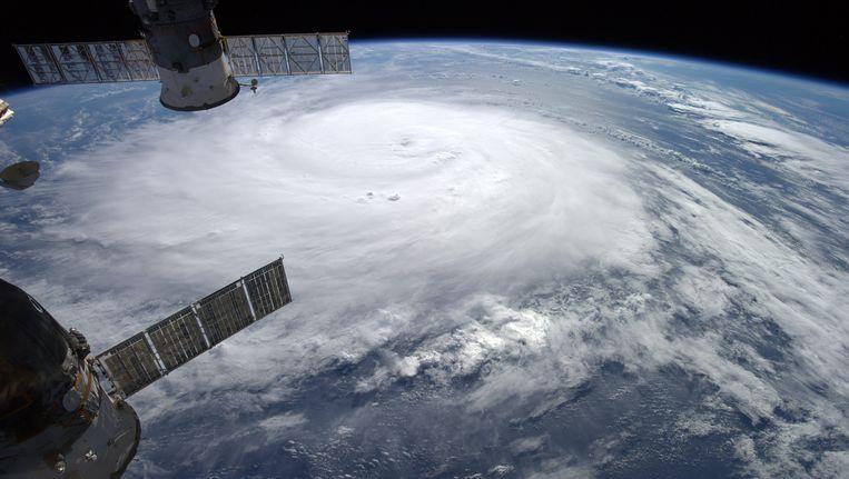 Een foto genomen vanuit het ISS. Beeld null