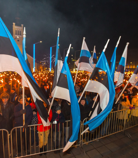 Une marche aux flambeaux de l'extrême droite en Estonie