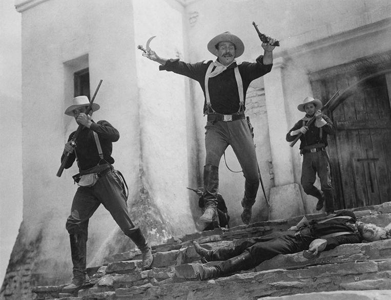 John Wayne in 'Rio Grande' van John Ford.  Beeld