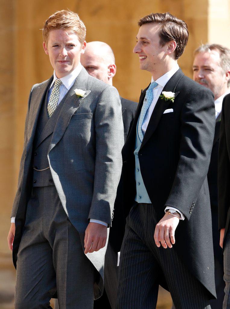 Hugh Grosvenor en Charlie van Straubenzee zijn twee van Harry's beste vrienden.
