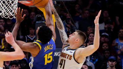 Dit indrukwekkende blok luidde eerste nederlaag van kampioen Golden State in, forse straffen voor kemphanen in LA Lakers-Houston