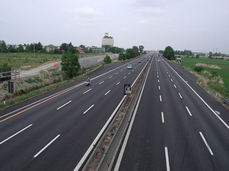 De A1 bij Reggio Emilia. Beeld wikimedia commons