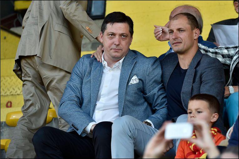 Dejan Veljkovic aan de zijde van Milan Jovanovic.