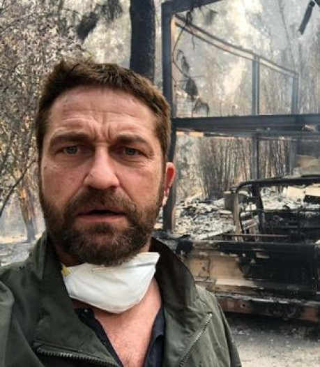 Acteur Gerard Butler zamelt geld in voor schade na bosbranden