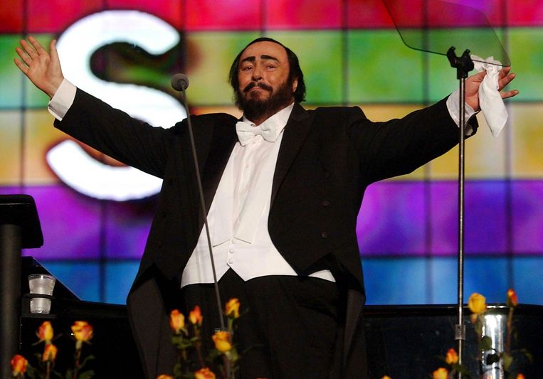Luciano Pavarotti in 2003. De zanger overleed vier jaar later.