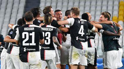 Juventus kroont zich voor de negende keer op rij tot kampioen na makkelijke zege tegen Sampdoria