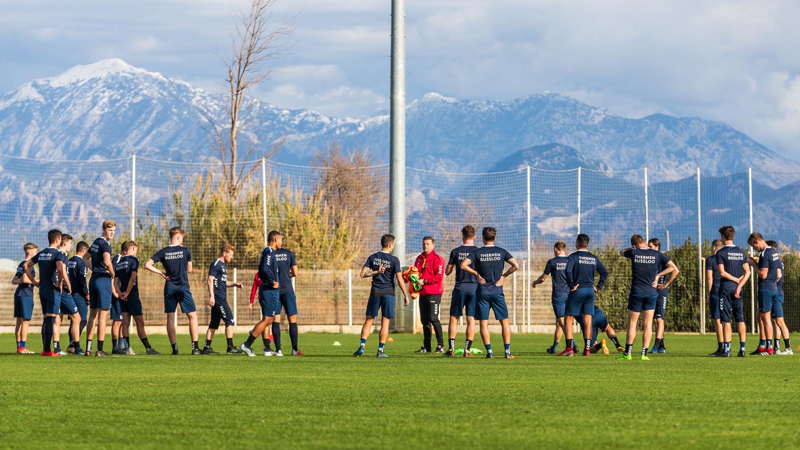 Go Ahead Eagles ging afgelopen winter nog op trainingskamp naar het Turkse Belek.