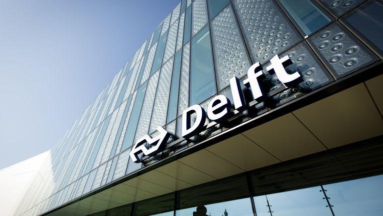 Het nieuwe station in Delft. Beeld ANP