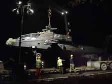 Staan hoogspanningsmasten nog recht nadat Apache er tegenaan vloog?