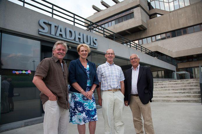 Vier van de tien leden van de Wmo-adviesraad Terneuzen in 2013, met helemaal links toenmalig voorzitter Henk Krutwagen, verder vlnr Bibian Cosijn, Frans Tollenaar en Henk Smets, archieffoto.