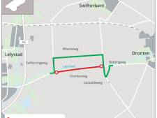 Asfalt maakt plaats voor duurzaam beton op fietspaden bij Dronten en Emmeloord