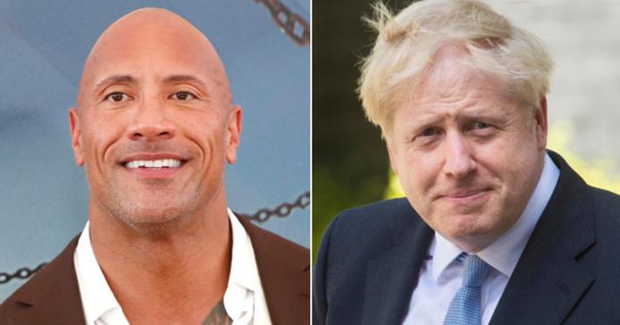 """Comme un air de famille entre Dwayne """"The Rock"""" Johnson et Boris Johnson."""