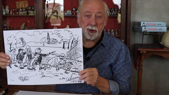 Urbanus met zijn versie van de Bruegel De Parabel van de Blinden.