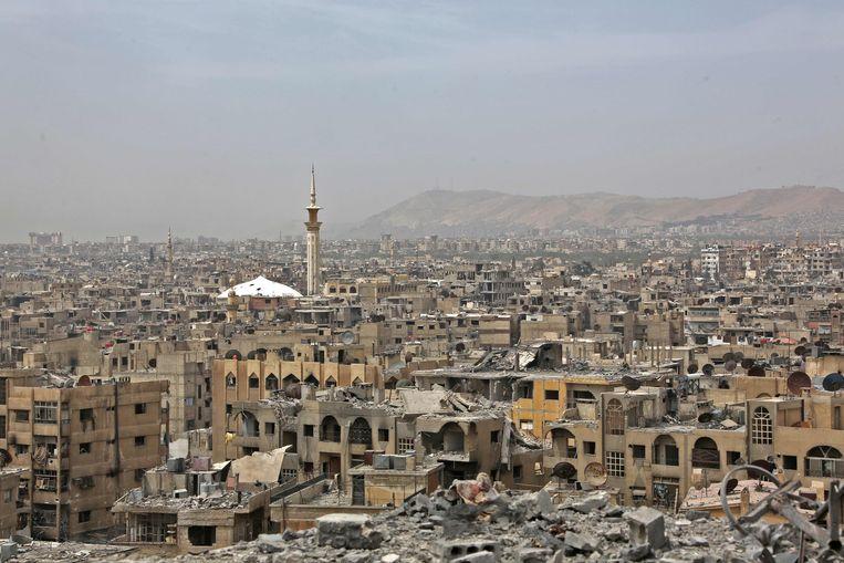 Een beeld van Douma.