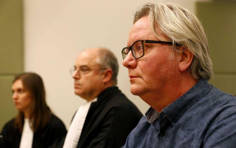 NOS-verslaggever Robert Bas in de rechtbank. Beeld ANP