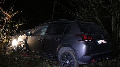Spectaculaire politieachtervolging eindigt in voor auto's niet toegankelijk natuurgebied in Aalst