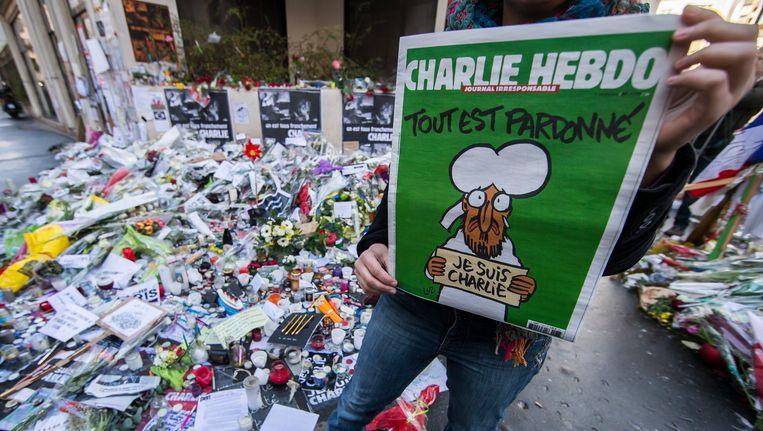 Bij Charlie Hebdo kwamen twaalf medewerkers om.