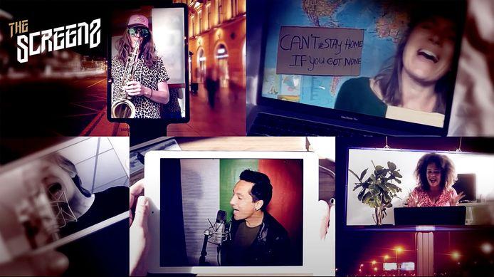 Screenshot van de videoclip van The Screenz
