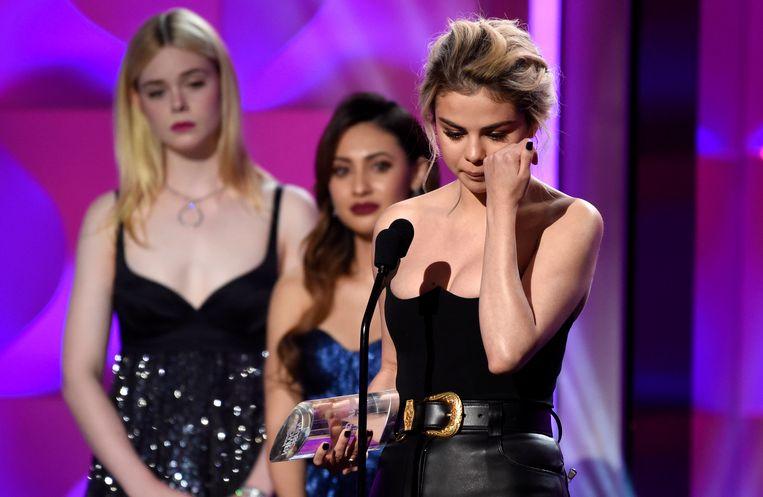 Selena Gomez pinkt nog snel een traan weg
