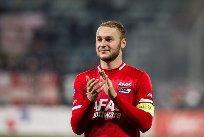 2019-11-10 21:55:00 Teun Koopmeiners of AZ during the Dutch Eredivisie match between AZ Alkmaar and FC Emmen at Cars Jeans stadium on November 10, 2019 in The Hague, The Netherlands ANP SPORT