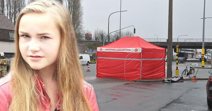 Nikita Everaert stierf op het zwarte kruispunt nadat ze op haar fiets werd aangereden door een truck.