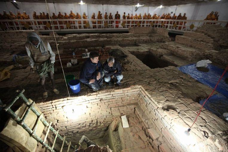 De geboorteplaats van Boeddha in de Maya Devi Tempel in Lumbini, Nepal. Beeld Ira Block/National Geographic Archaeologists