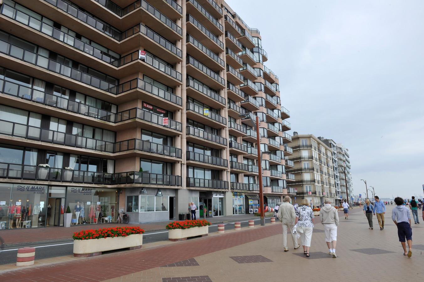 Appartementen met zicht op zee in Knokke.