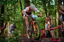 Mathieu van der Poel op de mountainbike.
