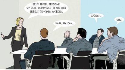Tekenaar van schijnbaar 'seksistische' cartoon uit reportage Schild & Vrienden post tegenreactie