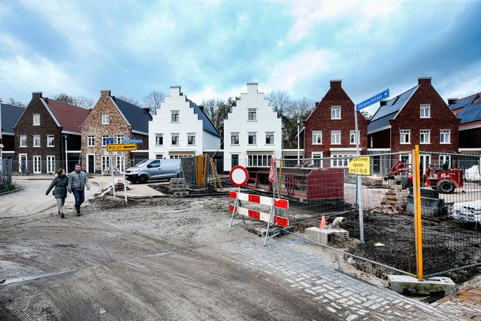 Nieuwbouwwijk Haarzicht nabij de Thematerweg te Vleuten.