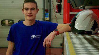 Jens (17) volgt als enige tiener in het Meetjesland 'vervroegd traject' tot brandweerman