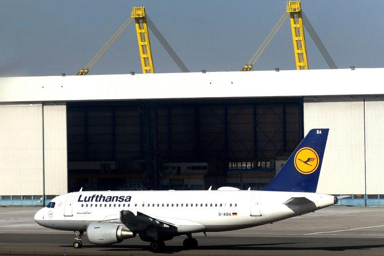 Het oude Lufthansa-uiterlijk.