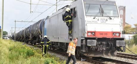 Goederentrein die benzeen vervoert vat vlam in Oisterwijk, treinverkeer zeker tot 18.00 uur gestremd
